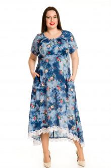Платье 594 Luxury Plus (Голубой)