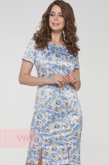 Платье женское 191-3504 Фемина (Пассифлора голубой)