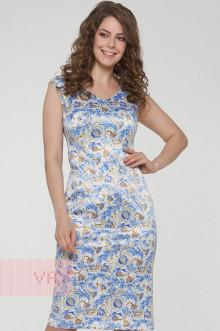 Платье женское 191-3500 Фемина (Пассифлора голубой)