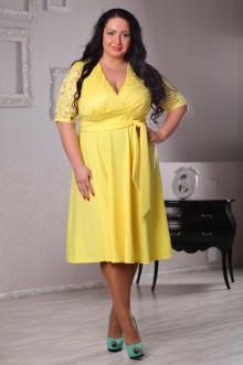 Платье 043601 ЛаТэ (Желтый)