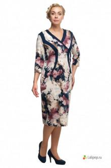 "Платье ""Олси"" 1705011 ОЛСИ (Синий/беж)"
