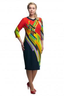 """Платье """"Олси"""" 1705017/2 ОЛСИ (Абстракция разноцветный)"""