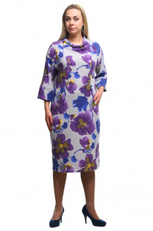 """Платье """"Олси"""" 1805016 ОЛСИ (Цветы)"""