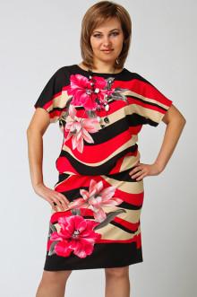 "Платье ""СКС"" 1095 (Фуксия-крем купон)"