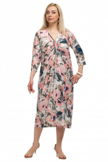 """Платье """"Олси"""" 1605034/2 ОЛСИ (Белый/Розовый)"""