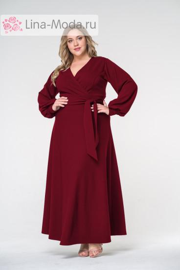 """Платье """"ЛаТэ"""" 1616808 (Бордовый)"""